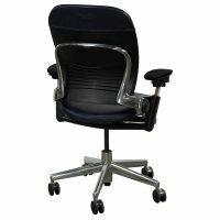 Steelcase Leap Used Leather Task Chair, Blue | National ...