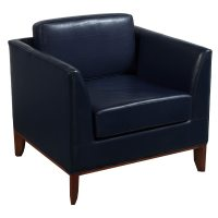 Bernhardt Used Leather Reception Chair, Blue   National ...