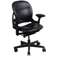 Steelcase Leap V1 Used Leather Task Chair, Black ...
