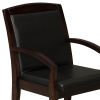 Anchor by goSIT New Executive PU Leather Wood Side Chair ...