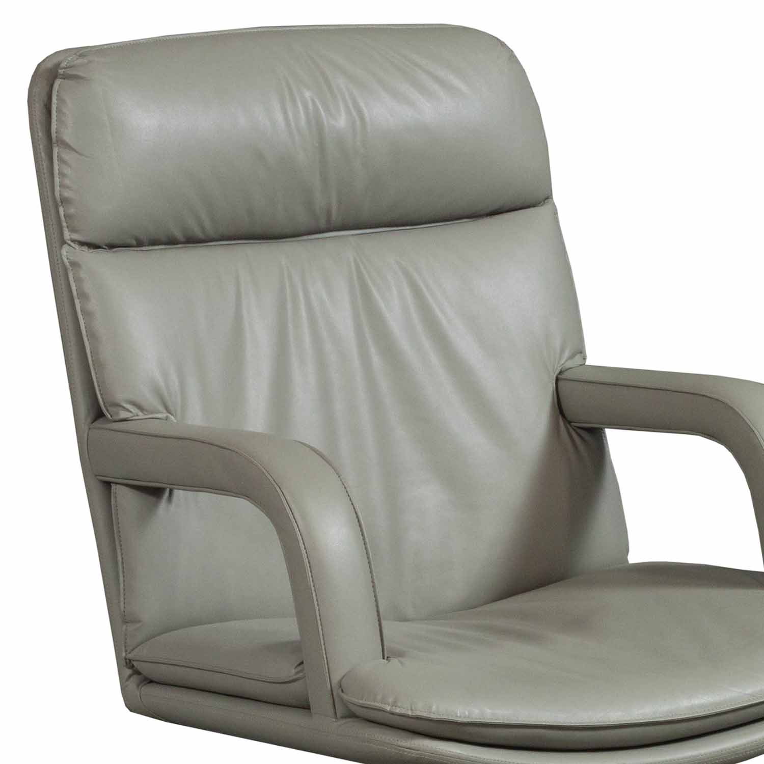 Sessel Taupe Used Leather Conference Chair, Taupe | National Office