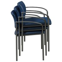Steelcase Player Used Leather Stack Chair, Blue | National ...