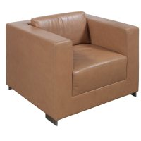 Bernhardt Used Leather Lounge Chair, Tan   National Office ...