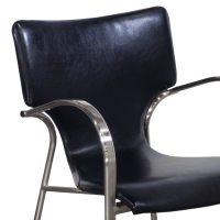 Bernhardt Strada Used Leather Stack Chair, Black ...