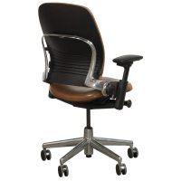 Steelcase Leap V2 Used Leather Task Chair, Brown ...