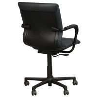Steelcase Protege Used Leather Conference Chair, Blue ...