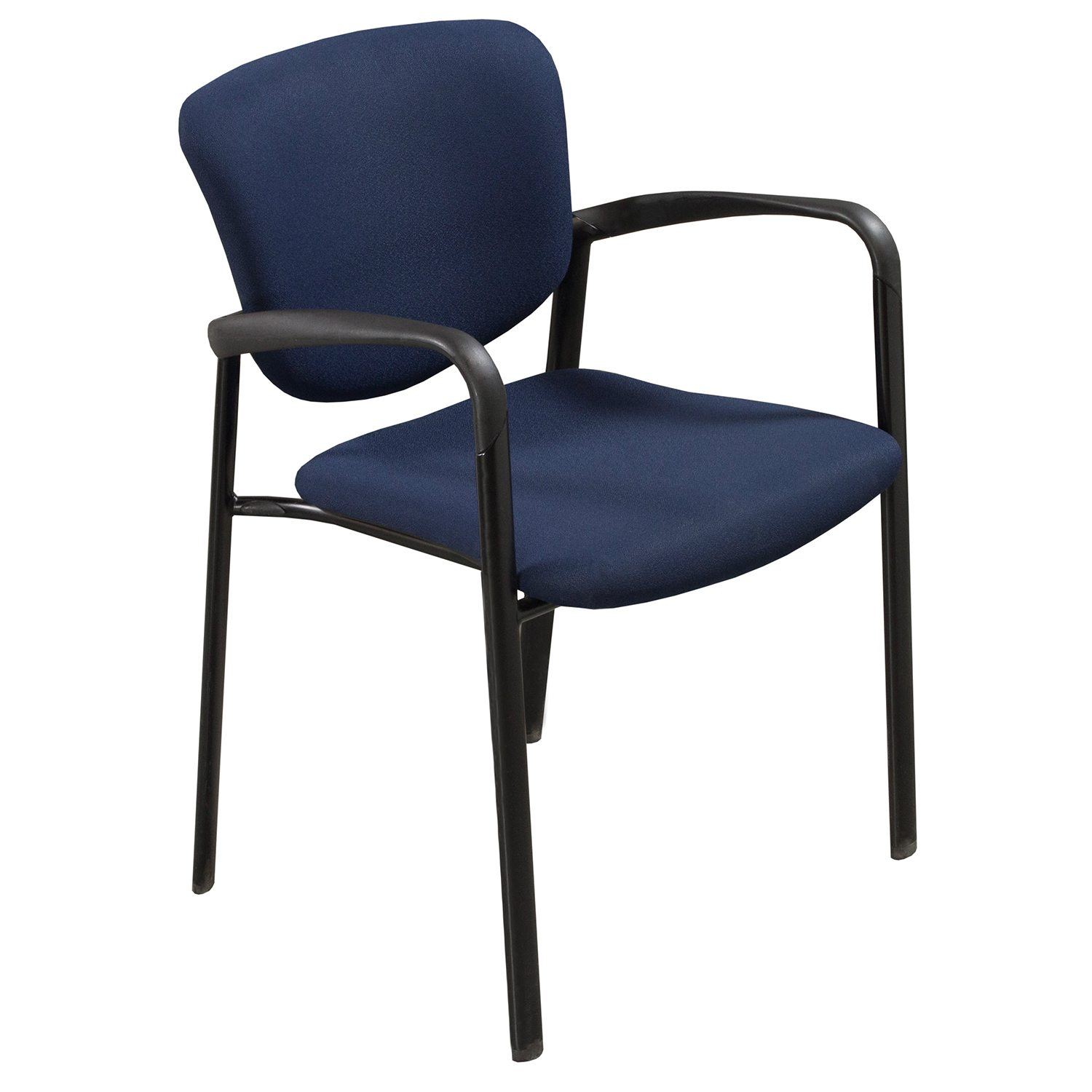 Haworth Improv Used Stack Chair Blue National Office