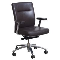 Steelcase Brayton Used Leather Conference Chair, Brown ...