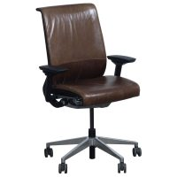 Steelcase Think Used Leather Task Chair, Brown | National ...