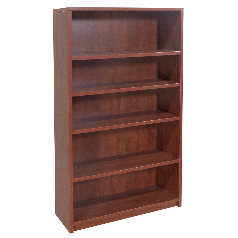 Used 5 Shelf 64 Inch Laminate Bookcase Cherry National