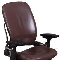 Steelcase Leap V2 Used Leather Task Chair, Mahogany ...