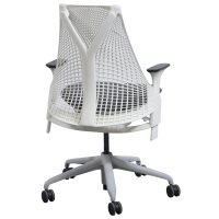 Herman Miller Sayl Used White Back Task Chair, Gray Seat ...