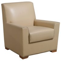 Bernhardt Used Leather Reception Chair, Tan   National ...