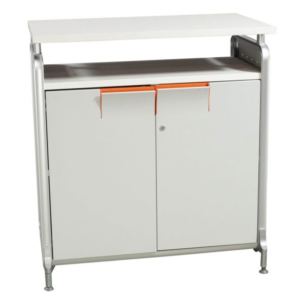 Herman Miller Used 36 Inch Storage Cabinet, White