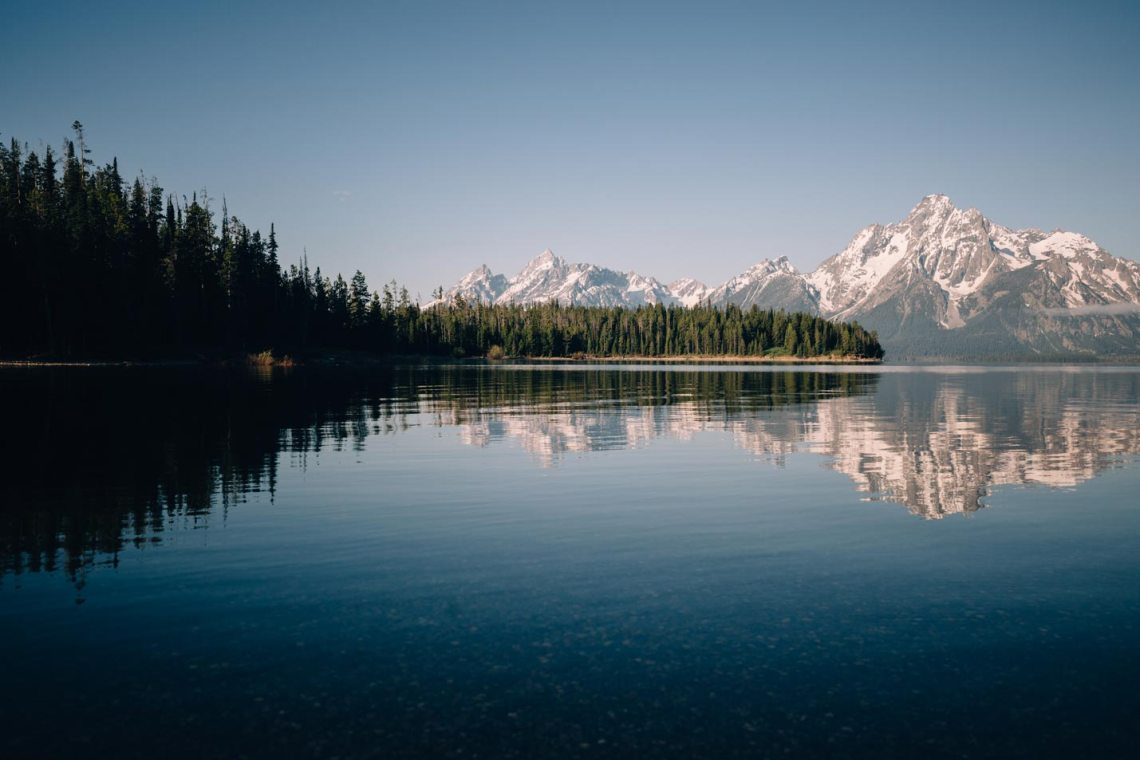 Grand Teton is full of lakes that support healthy ecosystems, but these pristine places need our support. Shown here is Jackson Lake.