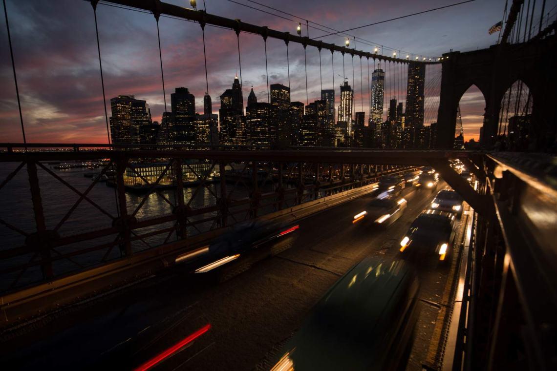 From the Brooklyn Bridge, New York.