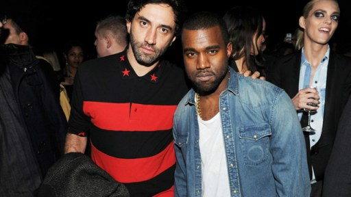 Riccardo Tisci (L) Outs Kanye West (R) Then Kicks Kanye To The Curb