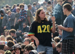 Pot smoking hippies at Coachella