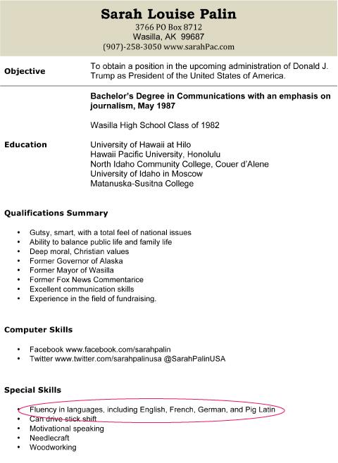 computer skills to put on resume