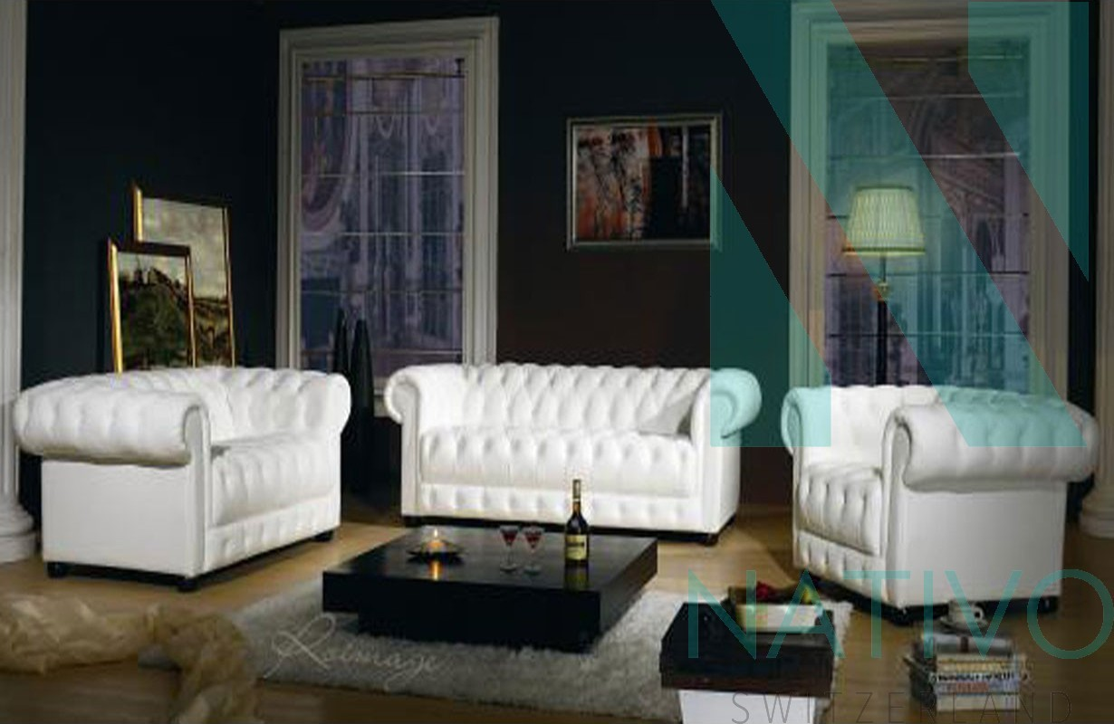 Canapé Chesterfield Design Set Canapés Chesterfield 3 432 431 Nativo Meubles Design