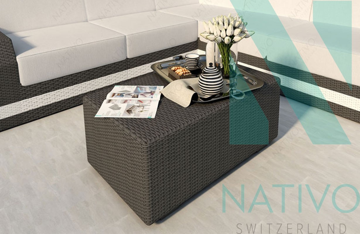 Tables De Salon En Rotin Table Basse En Rotin Mesia Nativo Meubles Jardin