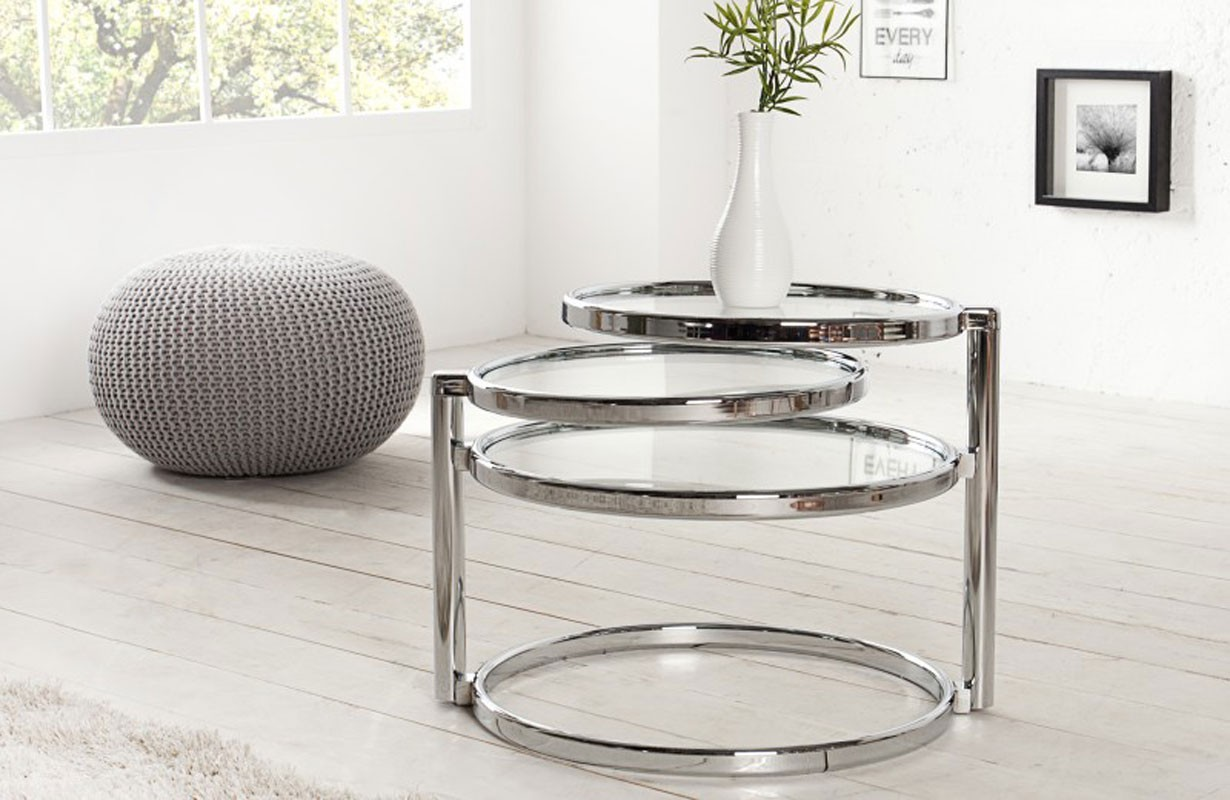 Couchtisch Rund Nativo Meuble Design - Table D'appoint Trio