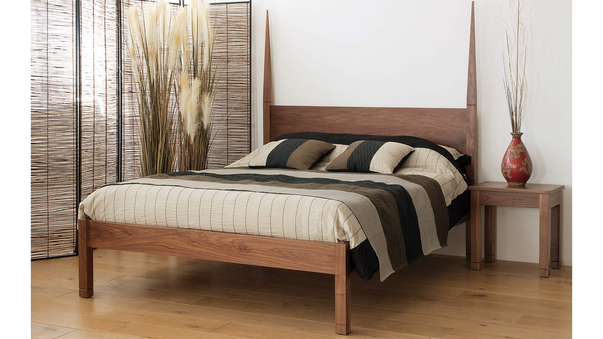 Solid Wood Bed Togo Exotic Solid Wood Bed Natural Bed Company