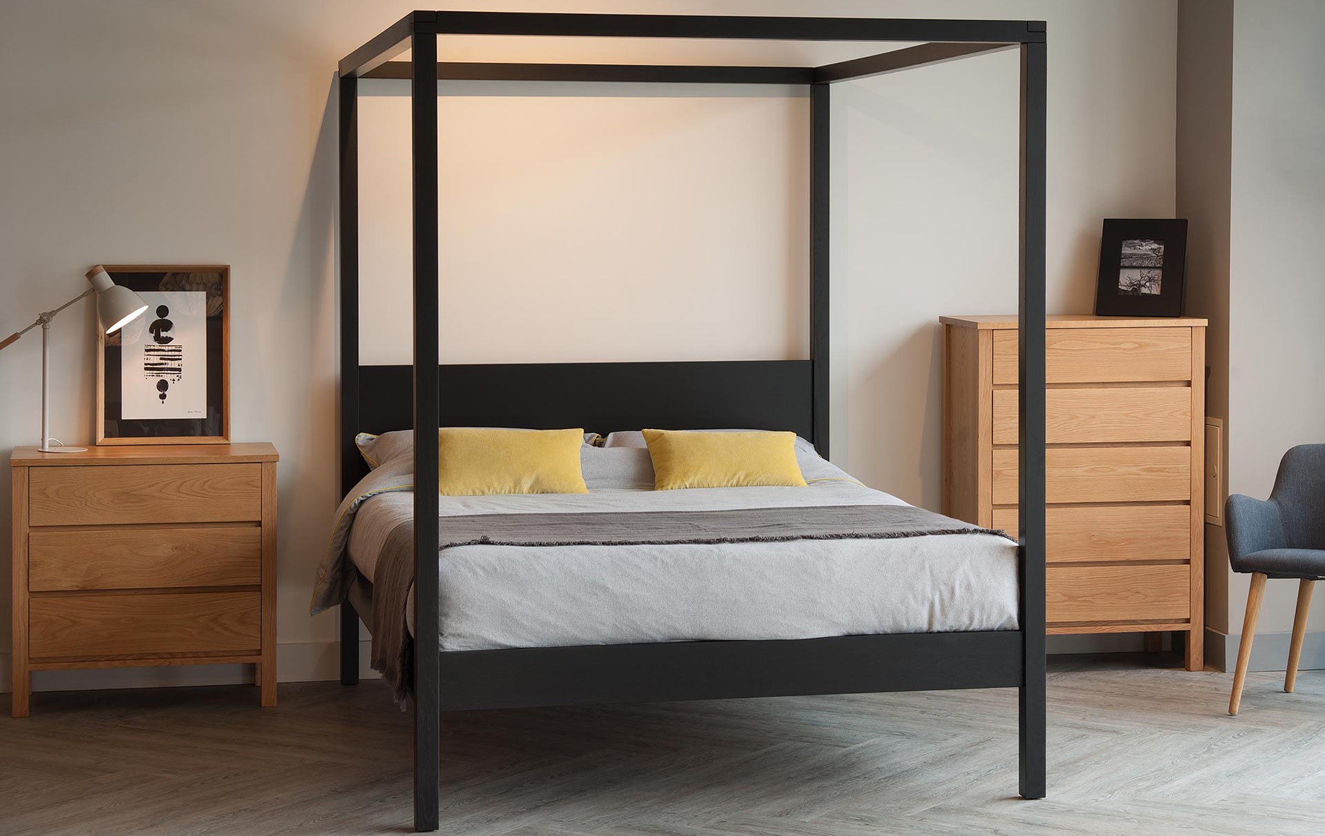 4 Poster Bed Australia Black Orchid Contemporary 4 Poster Natural Bed Company