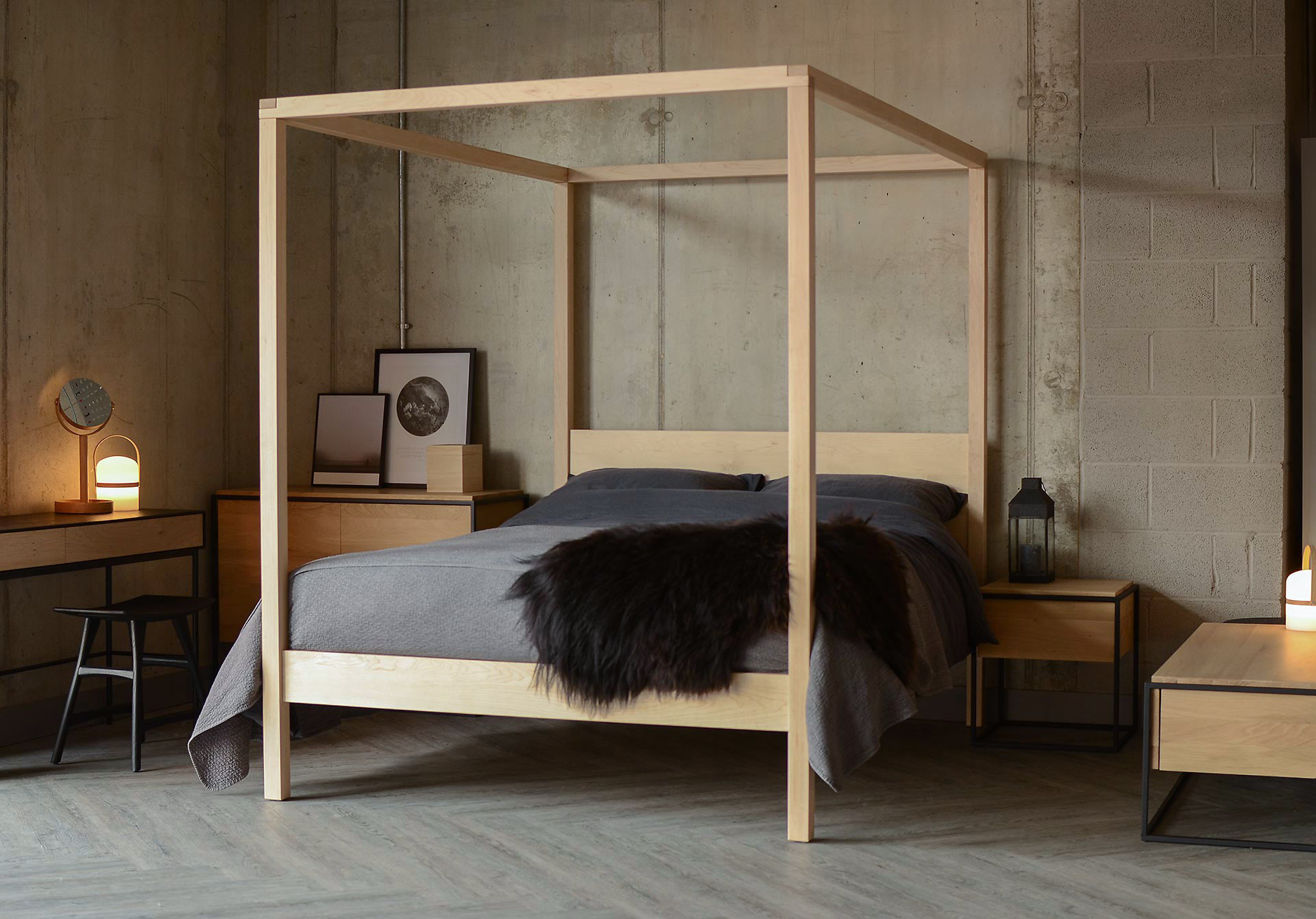 High Post Beds Orchid Four Poster Bed Solid Wood Natural Bed Company
