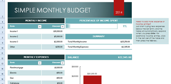 Excel Budget Template For Small Business And Non Profit Budget