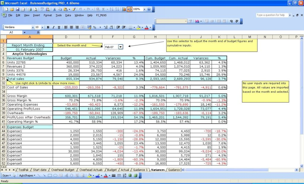 sample sales forecast spreadsheet