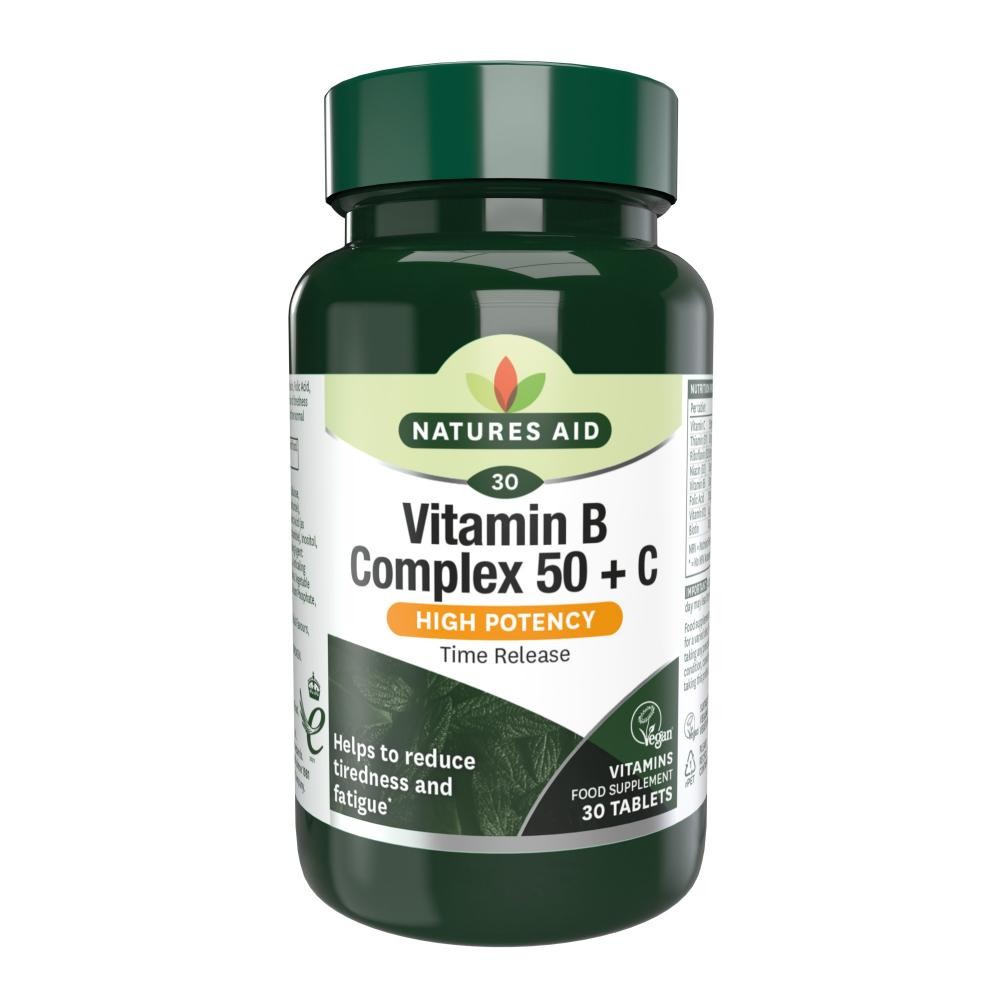 Foods Vitamin B 50 Vitamin B Complex 50 With Vitamin C 30 S The Natural Dispensary