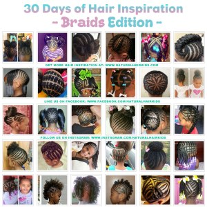 Braided, cornrow, hairstyle ideas for natural hair