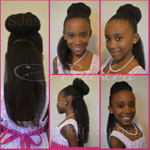 hairstyles for teens bun with straight back