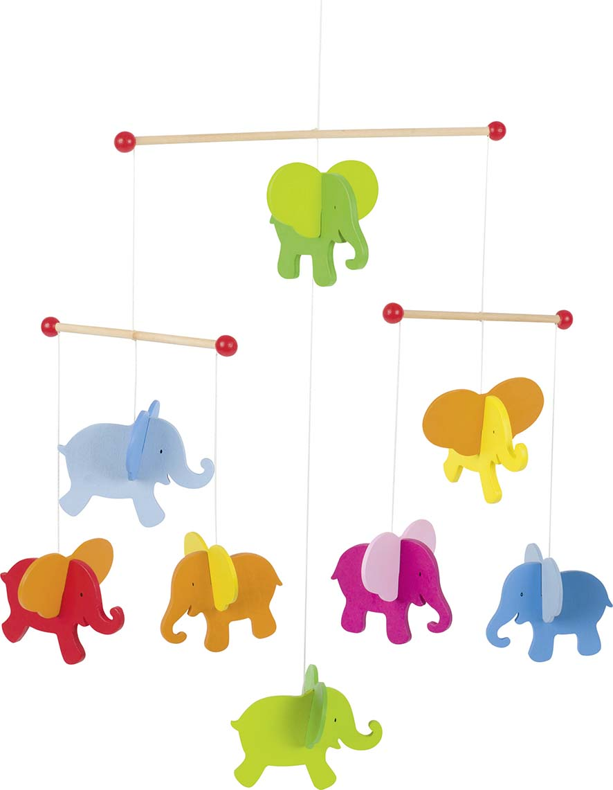 Kinder Stubenwagen Elephants Baby Mobile