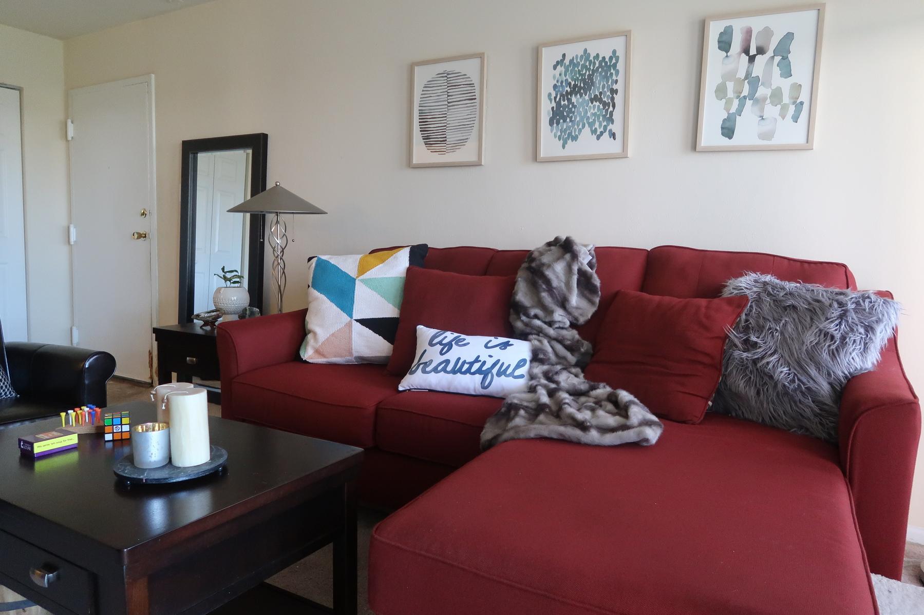 Living Room Red Sofa Vibrant Red Sofas Hgtv