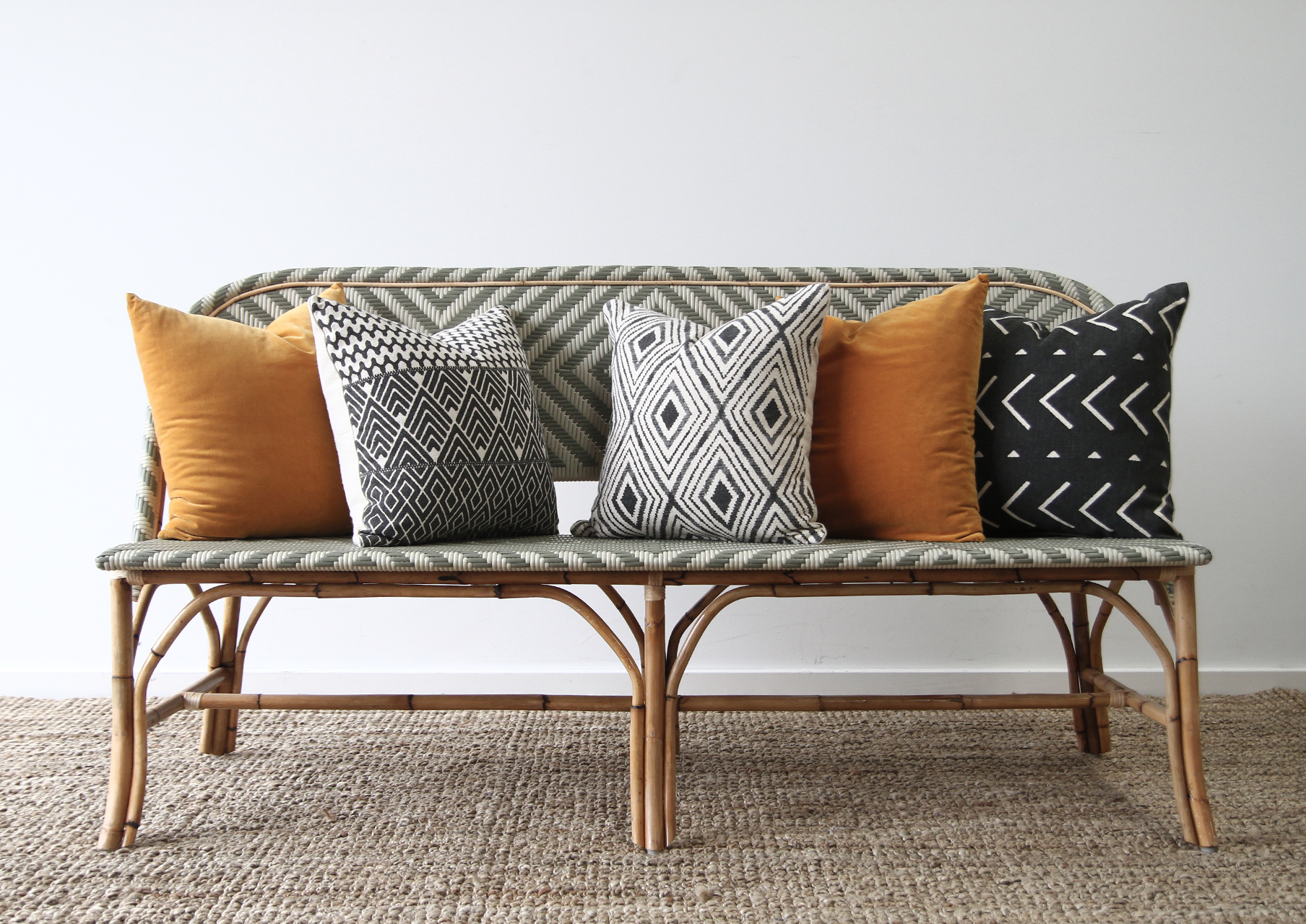 Sitzecke Rattan Miami Bench Seating | Naturally Cane Rattan And Wicker