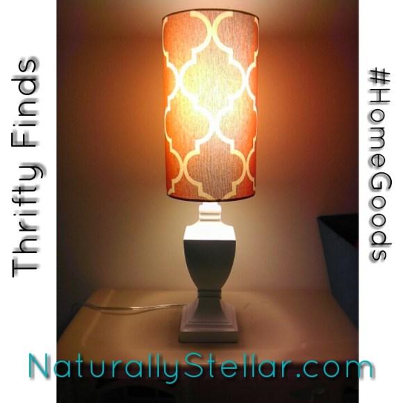 HomeGoods, Thrifty, Naturally Stellar, Shopping, Home Decor, Deals, Table Lamp