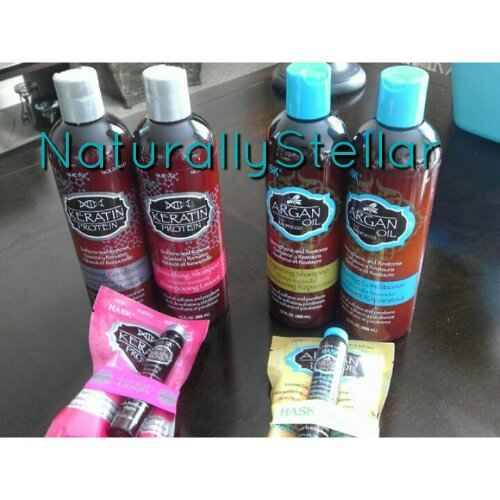 Naturally Stellar | Review: Hask Argan Oil & Keratin Protein Hair Care Lines