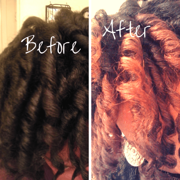 Before and After Coloring with Feria Intense Ombre 030