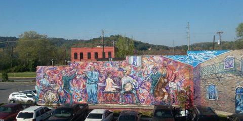 Gorgeous Mural Behind Cultural Arts Center - Gadsden, AL