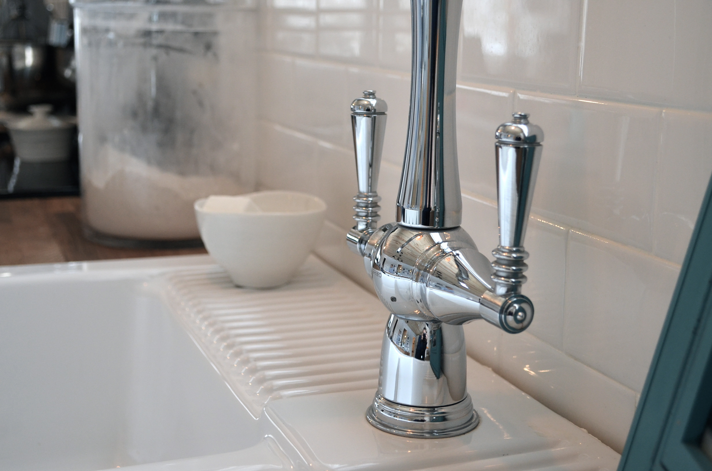 how to create a glam country farmhouse kitchen brizo the homemade farm brizo kitchen faucets I went with the Two Handle Tresa faucet It s a traditional look with timeless style Old world s European inspired but with modern Brizo details that