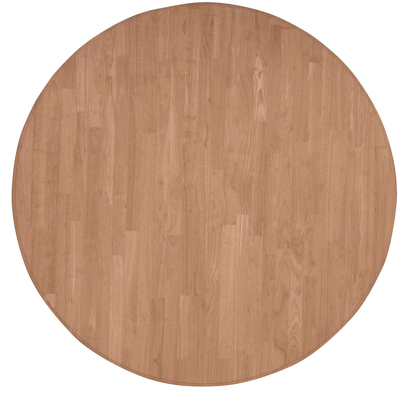 Round Table Tops Parawood 52 Inch Solid Round Table Top Natural