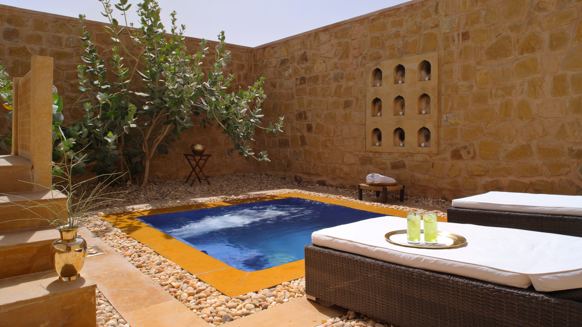 Jacuzzi Pool India The Serai Jaisalmer India Natural World Safaris