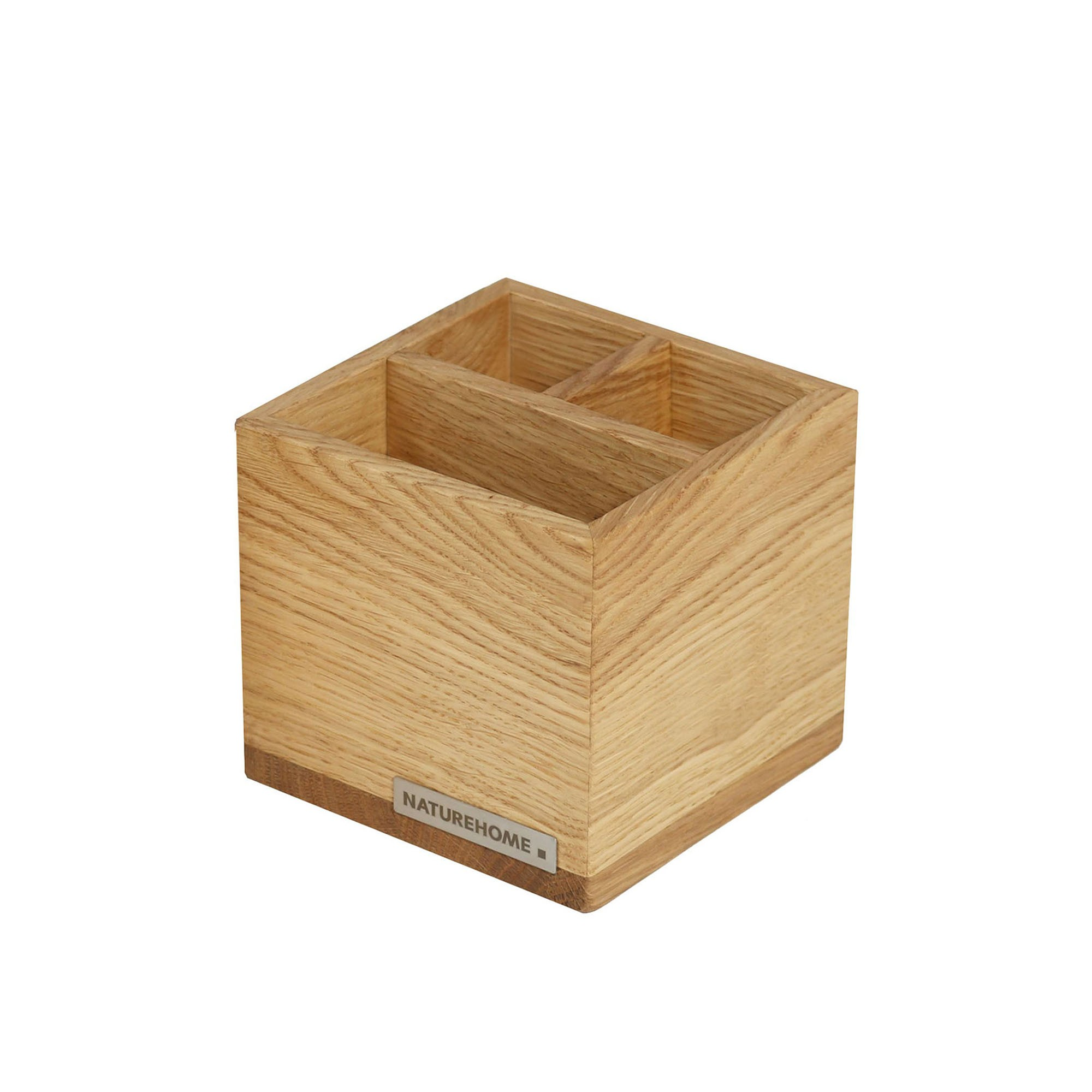 Naturehome Office Pencil Box Pen Holder Classic Oak Wood Naturehome - Holz Box