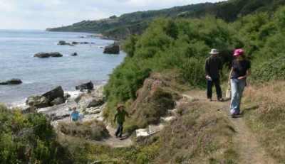 Walkers at Binnel Bay, Isle of Wight