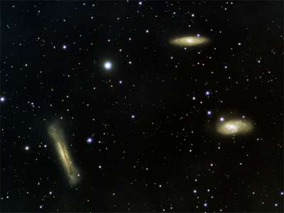 Leo Triplet from iowstarparty with Televue Genesis © Richie Jarvis