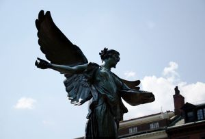 Angel statue in the Public Garden in Boston. Photo: Ami Wang