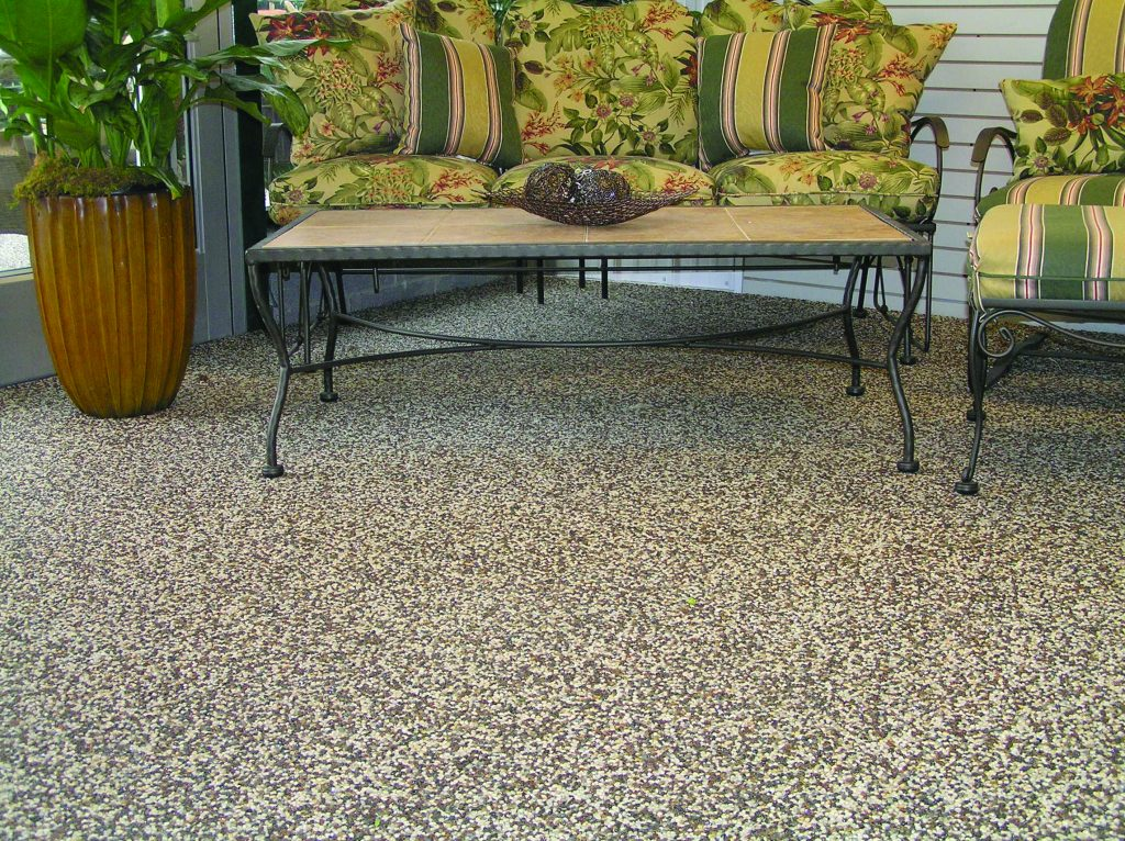Patio Flooring Outdoor Custom Stone And Epoxy Patios