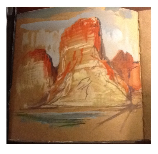 My sketch of Tollgate Rock